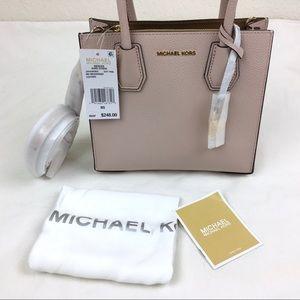 Michael Kors NEW Mercer Soft Pink Messenger